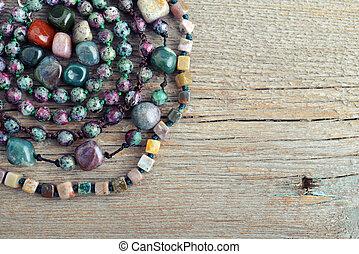 Semiprecious stone beads - Beautiful semiprecious stone...