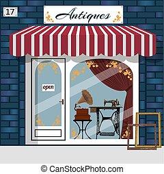 Curiosiry shop . Antiques shop.