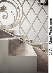 Details of Decorative Staircases - Closeup view on decor of...