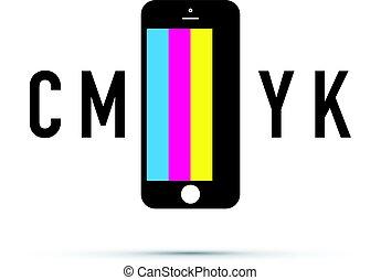 cmyk mobile phone colour selector