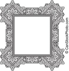 Rich decorated unusual frame pattern. Vector decorative...