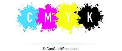 cmyk splash background
