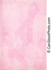 Pink Ribbon Background - Pink ribbon background with texture...