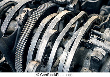 Abstract mechanism gearwheels