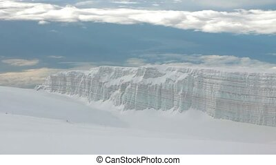 Glacier at the top of Kilimanjaro mountain, Tanzania - Track...