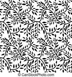 Seamless liana pattern decorative background