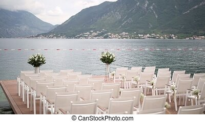 Wedding on the docks in the Bay of Kotor. Wedding in...