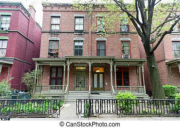 Astor Row - New York City - House on Astor Row. Astor Row is...