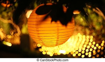 Round Paper Lanterns. Wedding decorations in Montenegro
