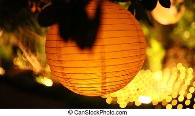Round Paper Lanterns. Wedding decorations in Montenegro