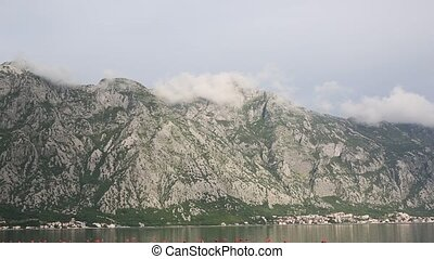 Kotor Bay in Montenegro. Mountains, and canyons, sea. -...