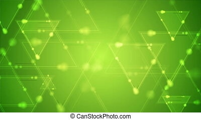 Abstract green shiny triangles video animation - Abstract...