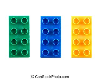 Building Block - A toy building block isolated against a...