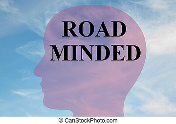 Road Minded - mental concept