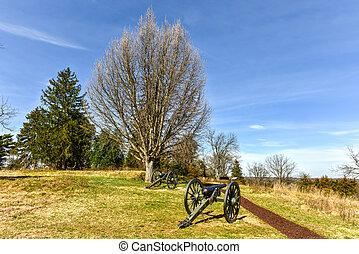 Battlefield - Fredericksburg, Virginia - Cannons on a...