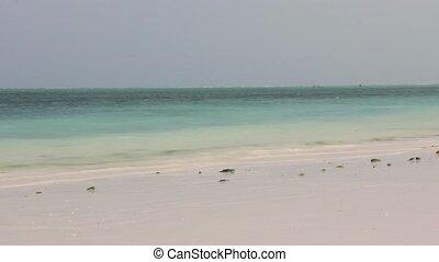 Beach in Nungwi village in Zanzibar