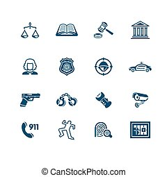 Law and order icons | MICRO series - Law and order related...