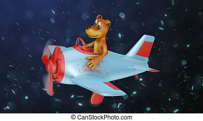 dog  in  plane  Merry Christmas