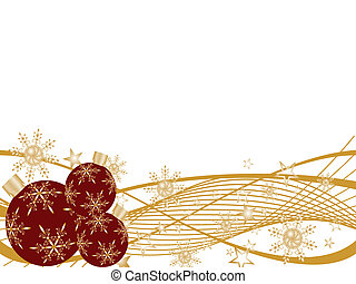christmas design - vector illustration of of christmas balls...