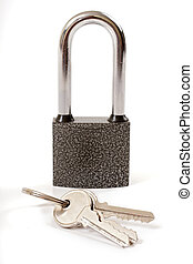 lock and house key