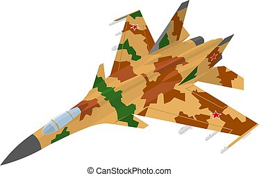 Russian fighter aircraft with desert