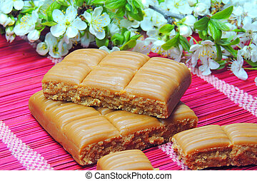 Caramel candy toffee
