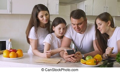 Happy Family Eating Food Delivery. - Happy Family Eating...