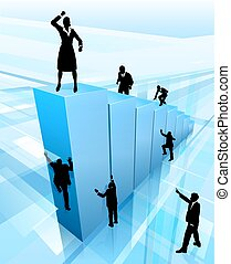 Successful Business Woman - Concept for success, business...