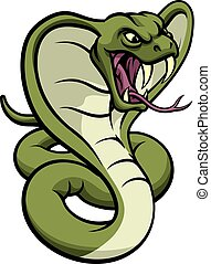 Cobra Snake Viper Mascot - An illustration of a cobra snake...
