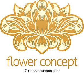 Floral Flower Abstract  Design Concept Icon