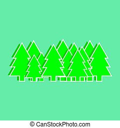 Christmas trees vector illustration, graphics, design