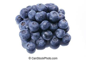 Blue Berries on White Background
