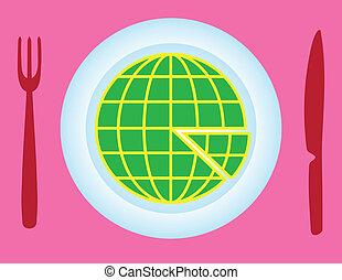 Globe slice