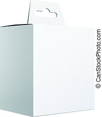 White Package Box. For Software, electronic device -...