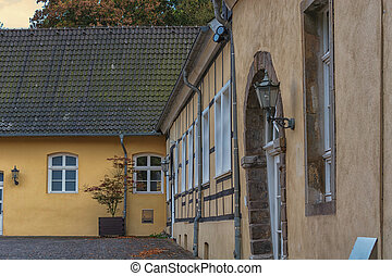 Mansion from the Middle Ages - Partial view of an old...