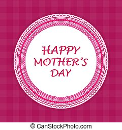 Happy Mothers Day greeting card. Vector Illustration
