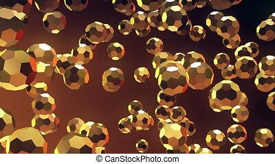Iridescent multifaceted balls