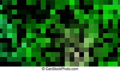 Quickly moving pixels in green