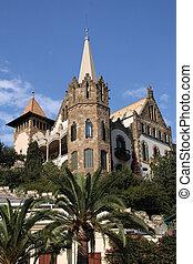 Tibidabo - Barcelona, Spain. Small castle in Tibidabo area.