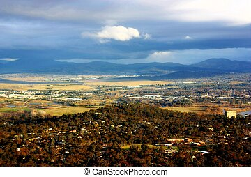 Canberra - View of Canberra from a vantage point overseeing...