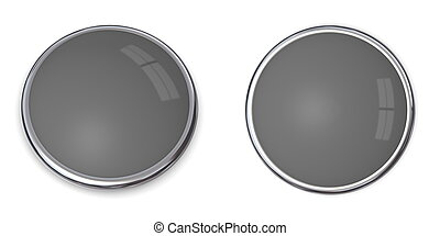 3D Button Solid Grey - 60% - 3D button in solid 60 percent...