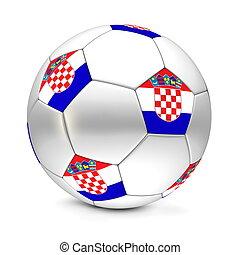 Soccer BallFootball Croatia - shiny footballsoccer ball with...