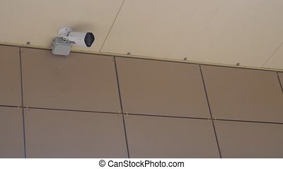 surveillance cameras at the entrance to the Mall.