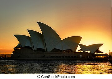 Sydney Opera House - Sunrise at Sydney Opera House,...