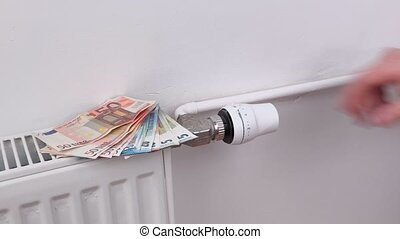 Concept of the radiators heating