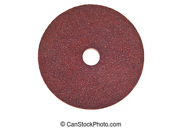 Abrasive wheels on a white background.