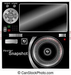Camera Pop-Up Design for folder printing. Illustration, EPS...