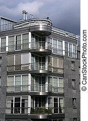 Modern architecture - Modern building in Antwerp, Belgium...