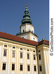 Kromeriz palace - Kromeriz townscape - beautiful old town in...