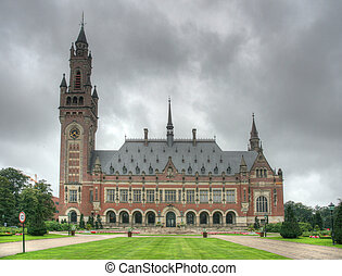 Hague - HDR photo of Peace Palace of Hague, Netherlands...